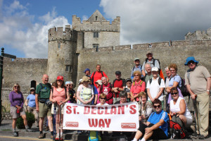 St. Declan's Way Walkers at Cahir Castle