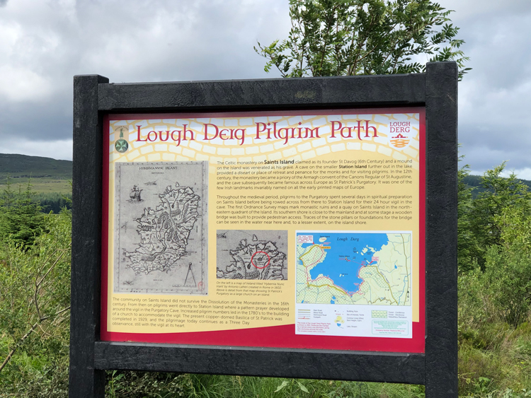 One of six information boards along the Pilgrim Path.